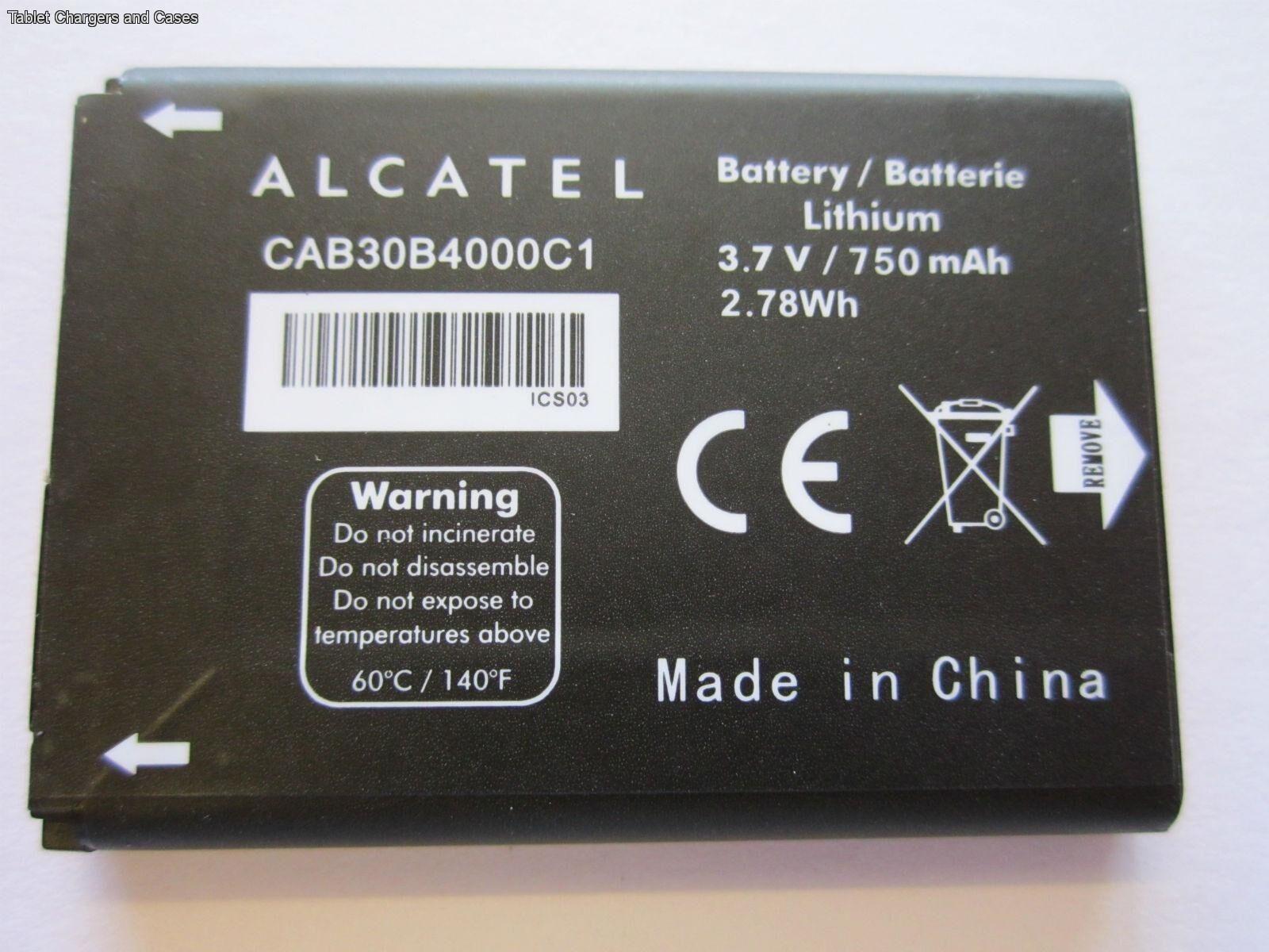 100% Genuine Alcatel CAB30B4000C1 Battery For OT-255 OT-383A OT-600A OT-206