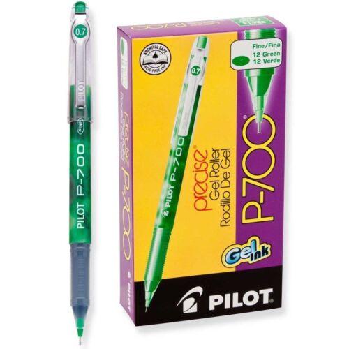 Dozen Box Pilot Gel Roller Pen 0.7mm Fine Green Ink