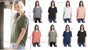 New-Anvil-Women-039-s-Freedom-Drop-Shoulder-Tee-Ladies-Relaxed-Oversized-Tee-36PVL