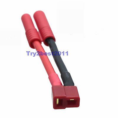HXT 4mm Connector to Deans T Plug Female Connectors Cable Charger Lead