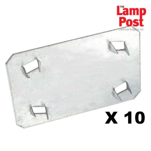 Coffre Plaque 54x80mm Galvanisé Métal Bricolage Plomberie électrique-Pack de 10