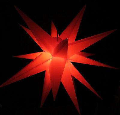 3d Advent Stella Esterno 60cm 18 Punte Rosso Esterno Stella Stella Stella Di Natale-n It-it