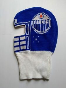 Edmonton-Oilers-NHL-Vintage-knit-hat-Game-Face-dead-stock-Hockey-Ski-mask