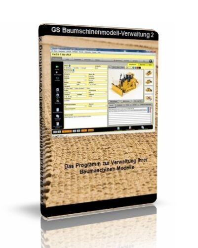 GS engins de chantier Modèle-gestion-logiciel pour gérer votre collection