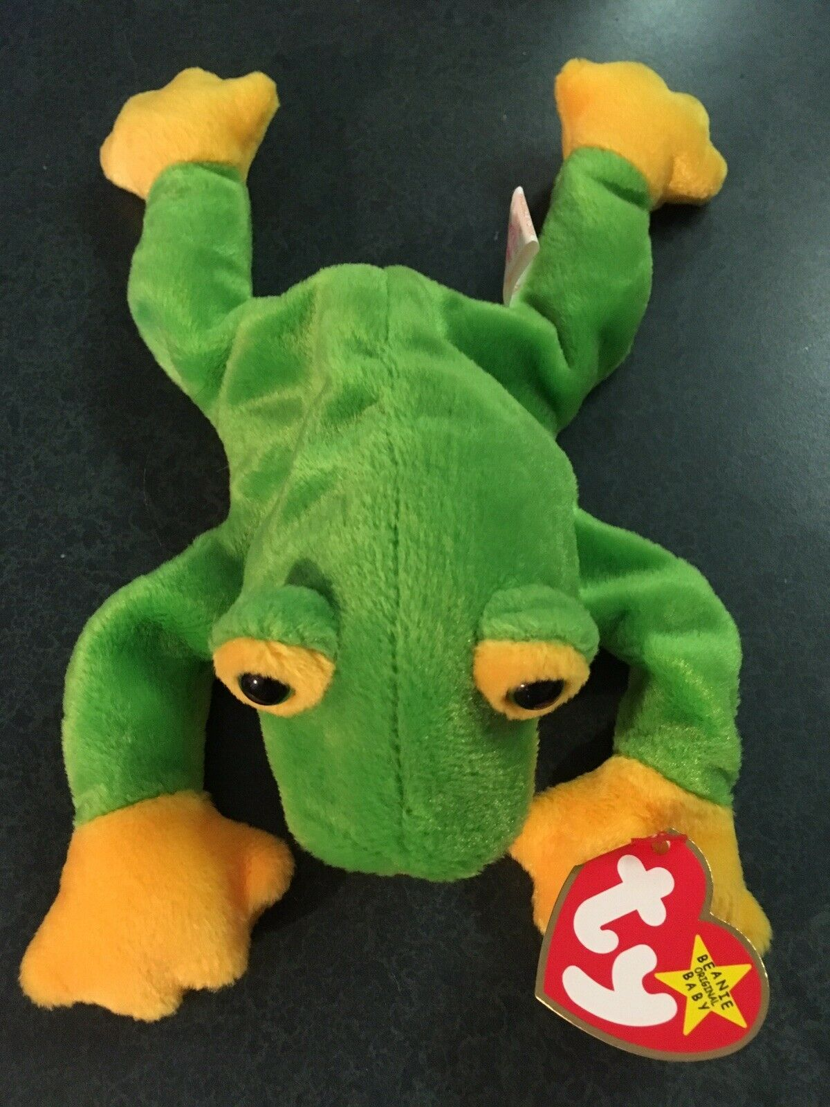 Ty Ty Ty beanie baby smoochy the frog W  tag Errors. Retired, Rare, Stamp, PE 10-1-97 50c432