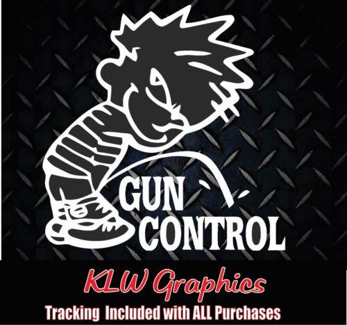 vinyl Decal Sticker Car Diesel Truck Hunter Family 1500 Piss on Gun Control