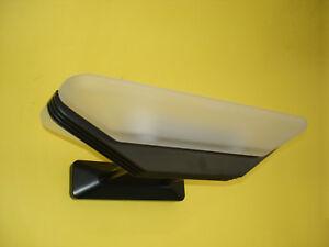 Applique vetro bianco montatura alluminio verniciato nero frack