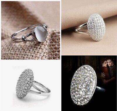 Film Jewelry Bella's Ring Full Zircon Opal White Gold GP Women's Wedding Ring