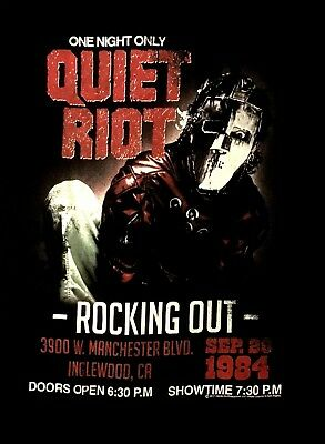 QUIET RIOT cd cvr MENTAL HEALTH ROCKING OUT 1984 Official SHIRT XL new