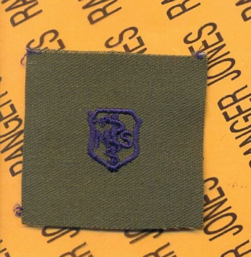 USAF Air Force Medical Service MS Qualification OD Green /& Blue badge patch