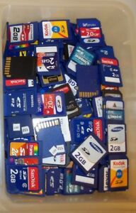 Lot-of-10-2GB-SD-memory-cards-mixed-brand