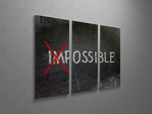 "Possible Inspirational Modern Pop Art Canvas Triptych Print 48/""x30/"""