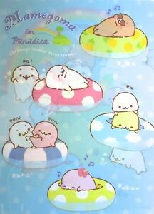 San-X-Mamegoma-Little-Seals-in-Paradise-A4-Plastic-File-Folder-KAWAII