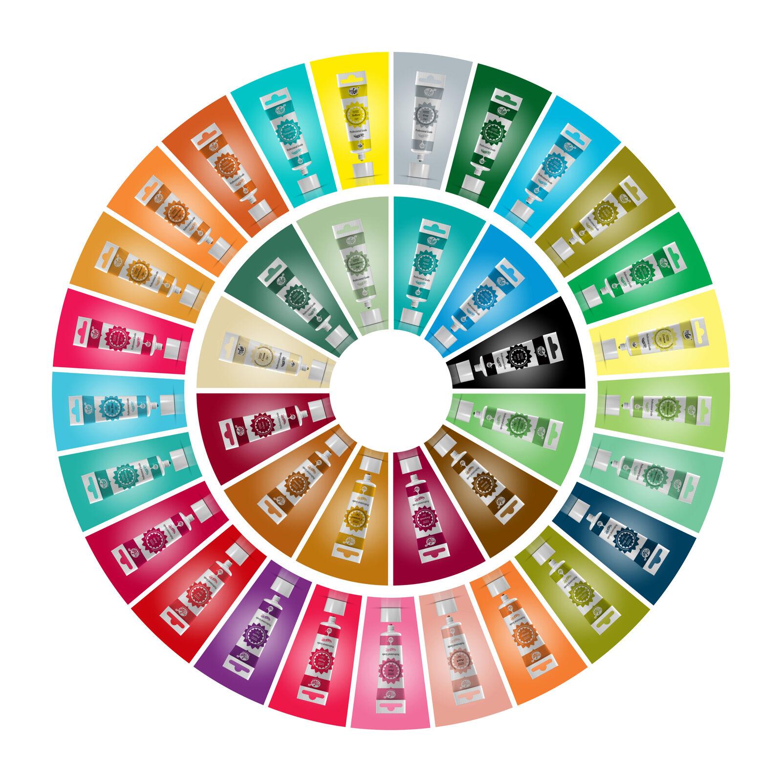20 x Rainbow Dust Pro Gel Food Colour Paste Paste Paste for Cake Icing Fondant Sugarpaste 445cca