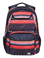 Roxy Large Womens/girl Shadow Swell Stripe Rucksack/backpack Bag 6w/270/mlr6