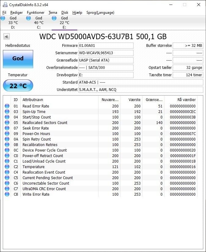 Westen Digital Green, 500 GB, God