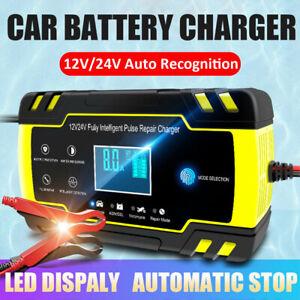 intelligent batterie ladeger t 12v pkw auto kfz boot transporter agm gel s ure ebay. Black Bedroom Furniture Sets. Home Design Ideas