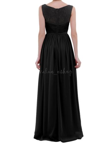 Women/'s Formal Lace Bridesmaid Ball Gown Evening Party Prom Cocktail Long Dress