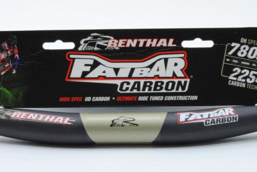 Renthal FatBar Carbon Mountain Bike Handlebar,10mm Rise,780mm Width,31.8mm,222g