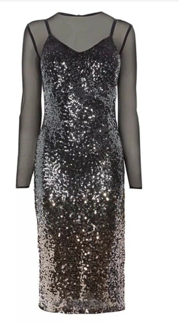 Coast Gisella Ombre Sequin Dress Smart Party Size 10 RRP
