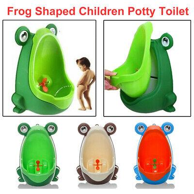 Cute Frog Kids Potty Toilet Training Children Urinal Boys Standing Pee Trainer