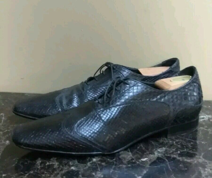 Alberto Guardiani  Snake SkinBlack shoes —Made In —EURO 43=USA 9