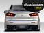 Evolution Emblem Badge Decal Sticker Fit Car Mitsubishi Lancer Chrome Evo 8 9