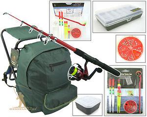 Complete Junior Beginners Fishing Kit Set Rod Reel Tackle