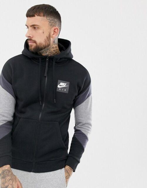 New Mens Nike Air Tracksuit Full Zip Top Bottoms Fleece Hoodie Air Print Jogger