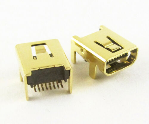 1pc Gold B Type Mini 8pin USB Female Jack SMT Socket Connector for Camera Phone