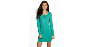 34a8a3924815 Image is loading NEW-BOOHOO-CAMILLE-LONG-SLEEVE-JERSEY-BODYCON-DRESS-