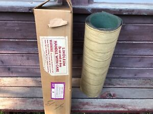 Vintage-ReTrO-Unused-Linoleum-Roll-c-1950-039-s-Faux-Wood-Flooring-w-Orig-Box