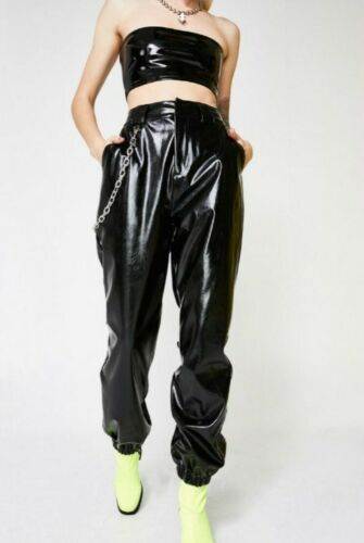 I.AM.GIA Cobain Leather Patent Chain Pant in size