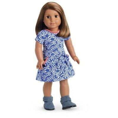 American Girl Truly Me Print Corduroy Dress /& Ankle Boots NEW in AG Packaging