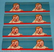 4x uralt Lackbild weinendes Baby Glanzbild