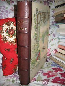034-Paris-034-Par-Auguste-VITU-Superbes-Dessins-relie-chagrin-1889-Gustave-Fraipont