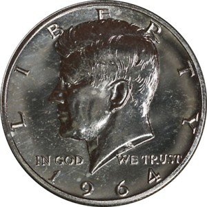 1964-P-Kennedy-Half-Dollar-Nice-Proof-Nice-Eye-Appeal-Bright-and-Shiny