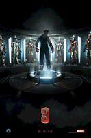 Iron Man 3 Armor Evolution 24x36 Movie Poster Patriot Robert Downey New/rolled
