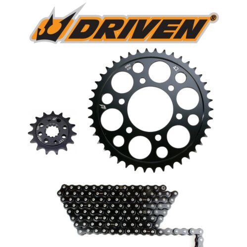 07-17 CBR600RR Driven RK 520 MAx-x 16//42T Steel Sprocket /& Black Chain Kit Honda