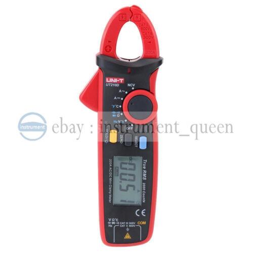 UNI-T UT210D Digital Clamp Meter AC//DC courant tension multimètre Temp testeur