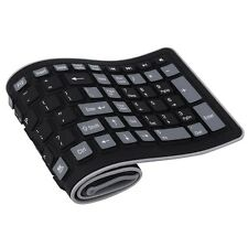 Wireless Keyboard 2.4Ghz Waterproof Flexible Silicone Soft Rubber PC / Laptop