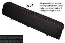 RED Stitch 2x Porta BRACCIOLO IN PELLE COVER ADATTA PER ALFA ROMEO GTV6 SPIDER 916 95-05