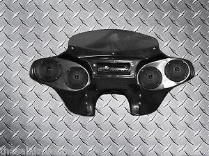 batwing fairing (4) speakers + radio 05 06 07 08 kawasaki vulcan