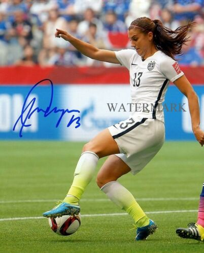 ALEX MORGAN SIGNED FIFA WORLD CUP USA SOCCER 8X10 REPRINT PHOTO RP