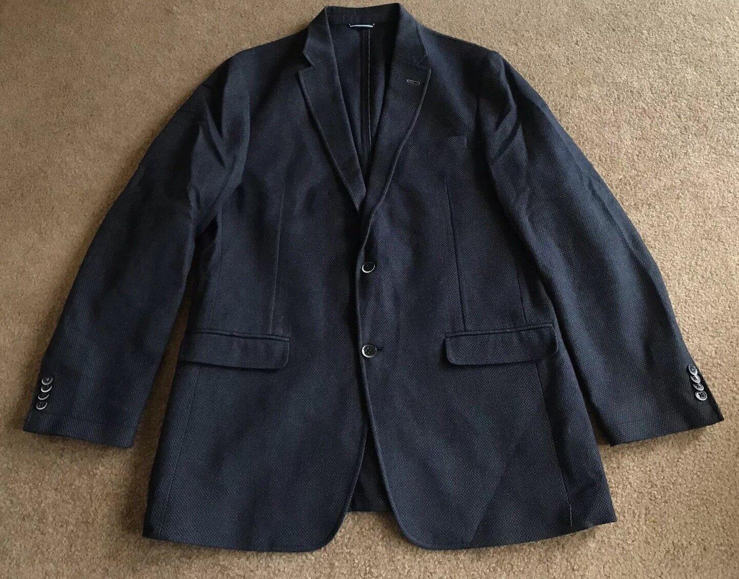 Men's Tommy Hilfiger Navy Blau Cotton Sport Coat Blazer Größe 42L EUC