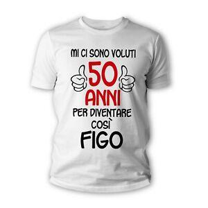 Tshirt 50 anni figo - Maglietta idea regalo compleanno