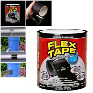Strong-WaterProof-Flex-Tape-4-039-x-5-039-Rubberized-Seal-Stop-Leaks-Tape-Pipe-Repair