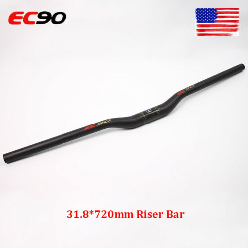 EC90 Handlebar 31.8*720mm Riser Bar Full Carbon Fiber Superlight MTB Bike Bar