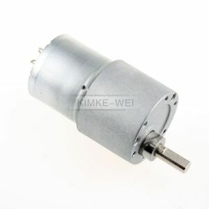 12V-DC-15RPM-High-Torque-Gear-Box-Electric-Motor-New