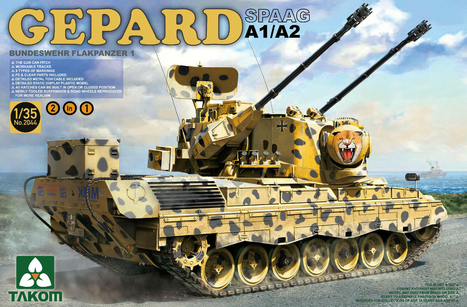 FLAKPANZER I  GEPARD GEPARD GEPARD  A1 A2 - KIT TAKOM INTERNATIONAL 1 35 n° 2044 31b5b7